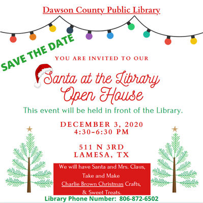 Santa at the Library Open House
